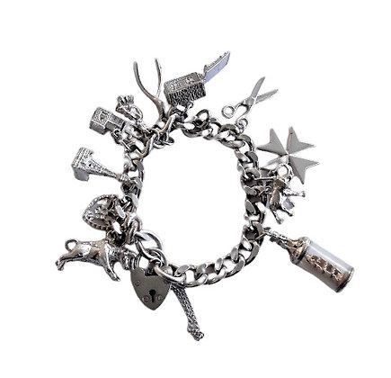 Heavy Assayed Charm Bracelet 2 oz +