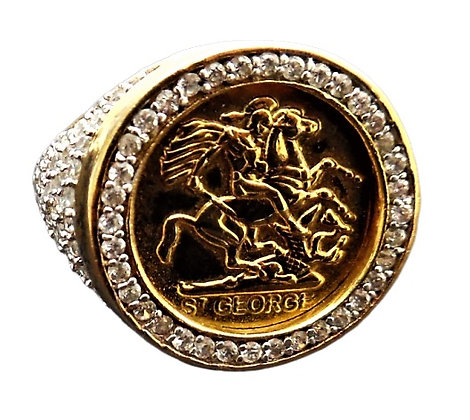 Sterling St George Ring Gold Plated