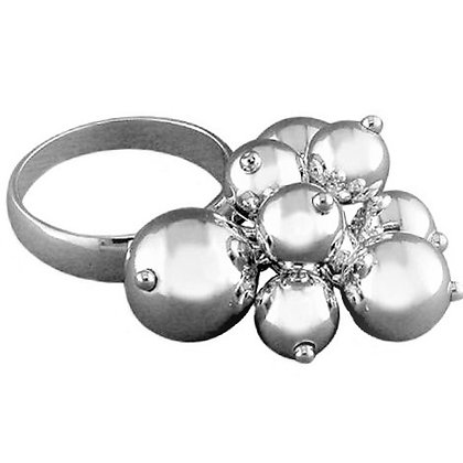 Assayed Silver Ring Plain Silver Balls