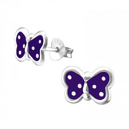 Sterling Purple Earrings