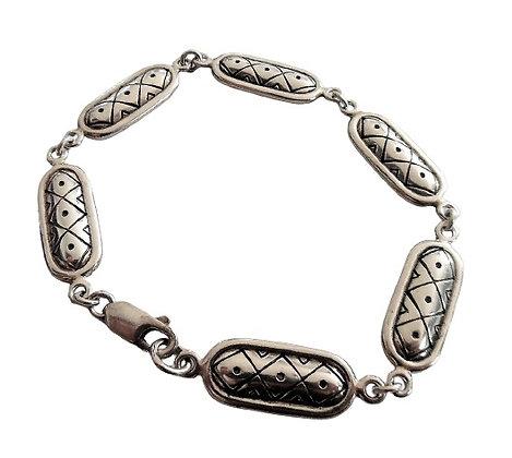 Assayed Deco Oval Links Bracelet