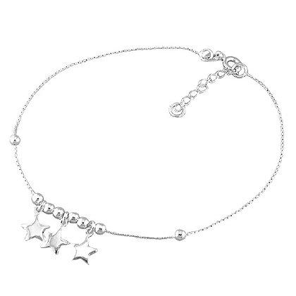 Sterling Ankle Bracelet Stars