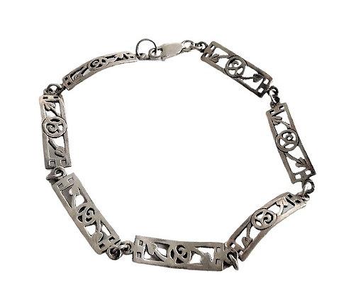 Silver Arts and Crafts Bracelet