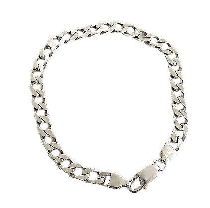 Sterling Flat Curb Bracelet