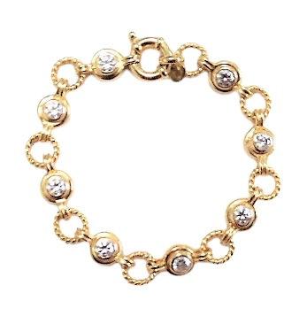 Assayed Sterling Bracelet Gold Plated