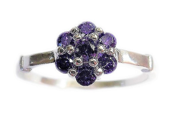 Assayed Purple Ring Amethyst CZ