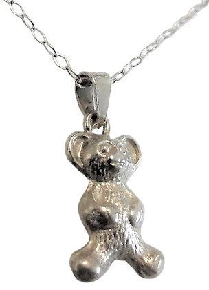 Vintage Teddy Bear Necklace