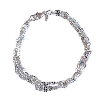 Sterling Three Strand Bracelet