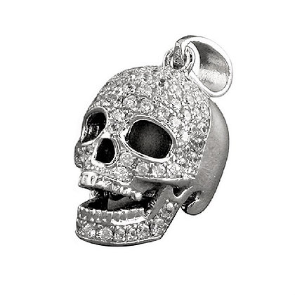 Damien Hirst Style Skull Necklace