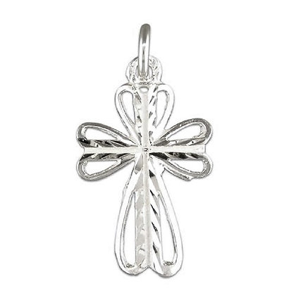 Sterling 2D Cross & Chain