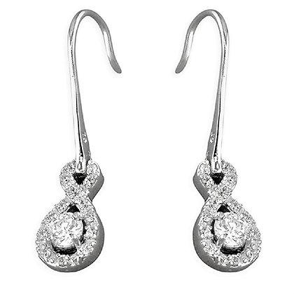 Sterling Silver Bling Cocktail Earrings