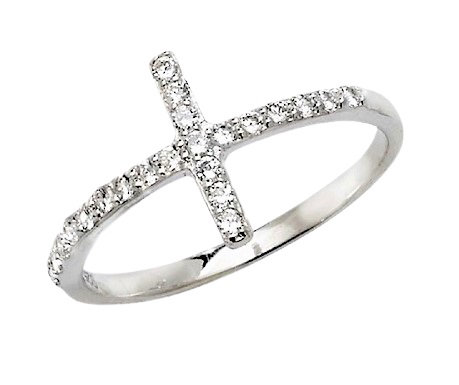 Assayed Ring CZ Cross