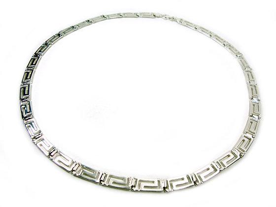 Sterling Silver Greek Key Choker