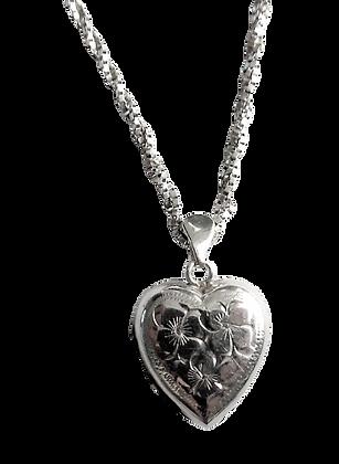 Assayed Heart Locket Necklace