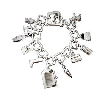Burberry Charm Bracelet Sterling Silver Watch Charm 2 Oz +