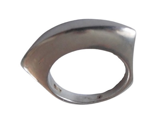 Solid Silver Plain Ring