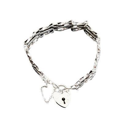 Assayed Vintage Silver 3 Bar Gate Bracelet
