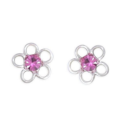 Sterling Silver Pink Earrings