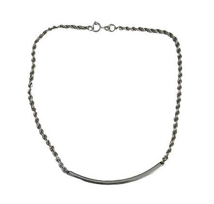 Vintage Assayed Silver Choker Necklace