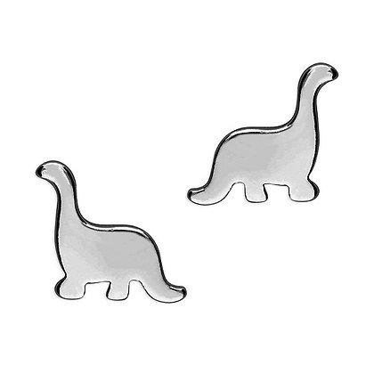 Sterling Silver Plain Dinosaur Studs