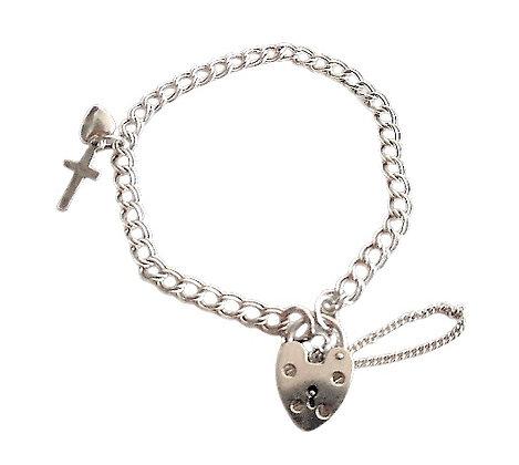 Vintage Assayed Sterling Silver Charm Bracelet