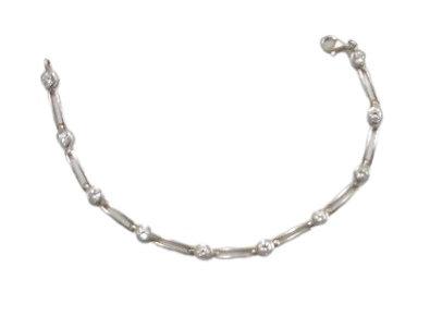 Assayed Silver Bracelet Clear Cubic Zirconia