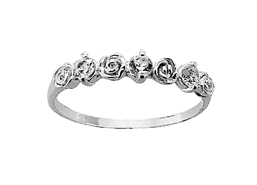 Assayed Silver Ring Roses