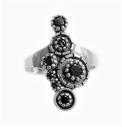 Assayed Silver Ring Black
