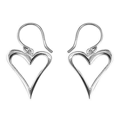 Plain Abstract Heart Earrings