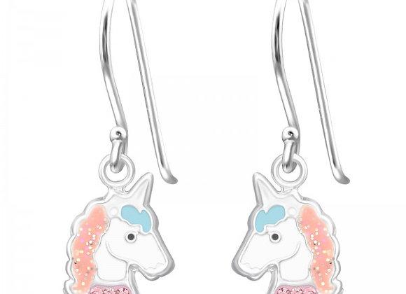 Unicorn Head Drop Earrings