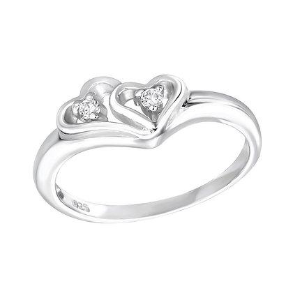 Assayed Silver Heart Rings