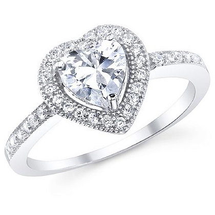 Assayed Silver Heart Ring