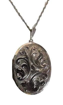 Vintage Assayed Oval Locket Necklace