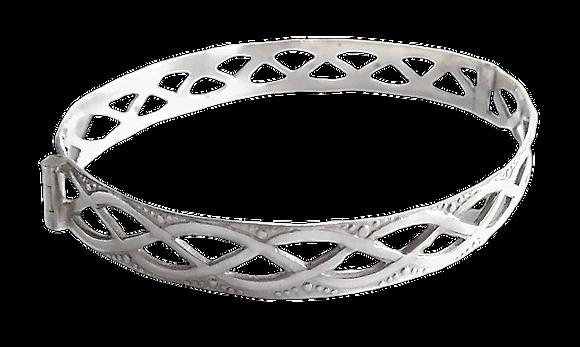Assayed Silver Celtic Bangle