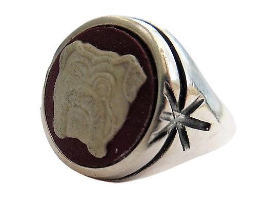 Assayed Designer Ring Stephen Webster Bulldog Jasperware