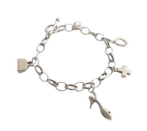 Sterling Silver Charm Bracelet Belcher
