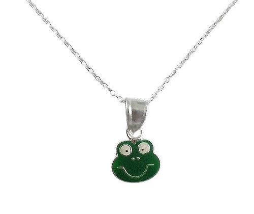 Sterling Frog Necklace