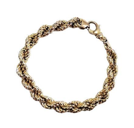 Assayed Gold Plated Sterling Bracelet