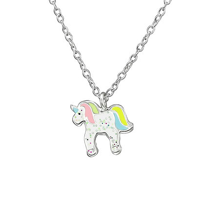 Girls Unicorn Necklace Sterling