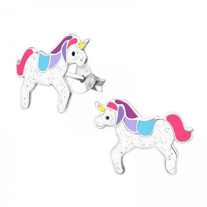 Childrens Sterling Unicorn Earrings