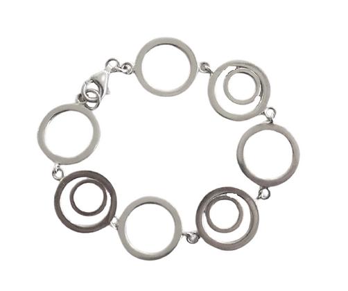 Assayed Sterling Circles Bracelet