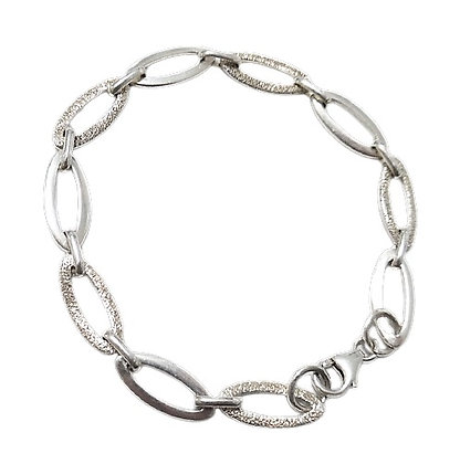 Sterling Silver Oval Links Bracelet
