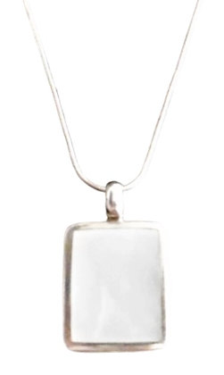 Assayed Silver Mother of Pearl Necklace
