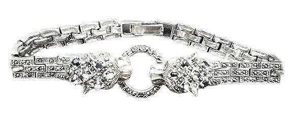 Sterling Silver Leopard Bracelet