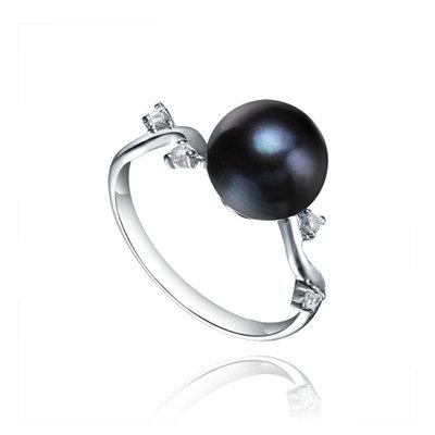 Sterling Black Pearl Ring
