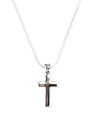 Sterling Silver Cross and Snake Chain