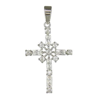 Sterling Bling Cross & Chain