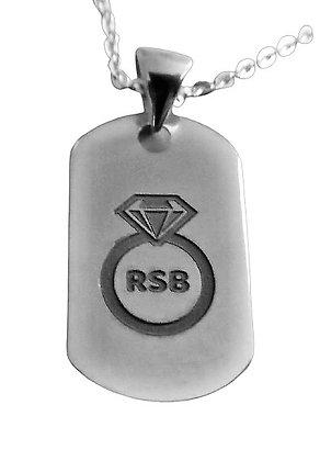 Assayed Logo Tag Necklace