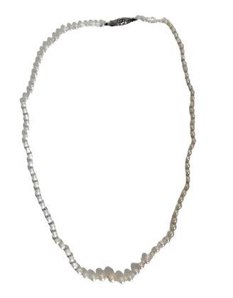 Vintage String of Pearls Sterling Fishhook Clasp