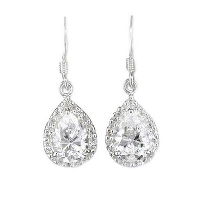 Sterling Silver Pear Drops